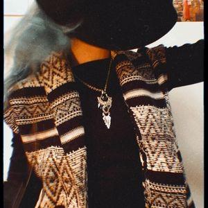 Cozy vintage boho hippie sweater vest